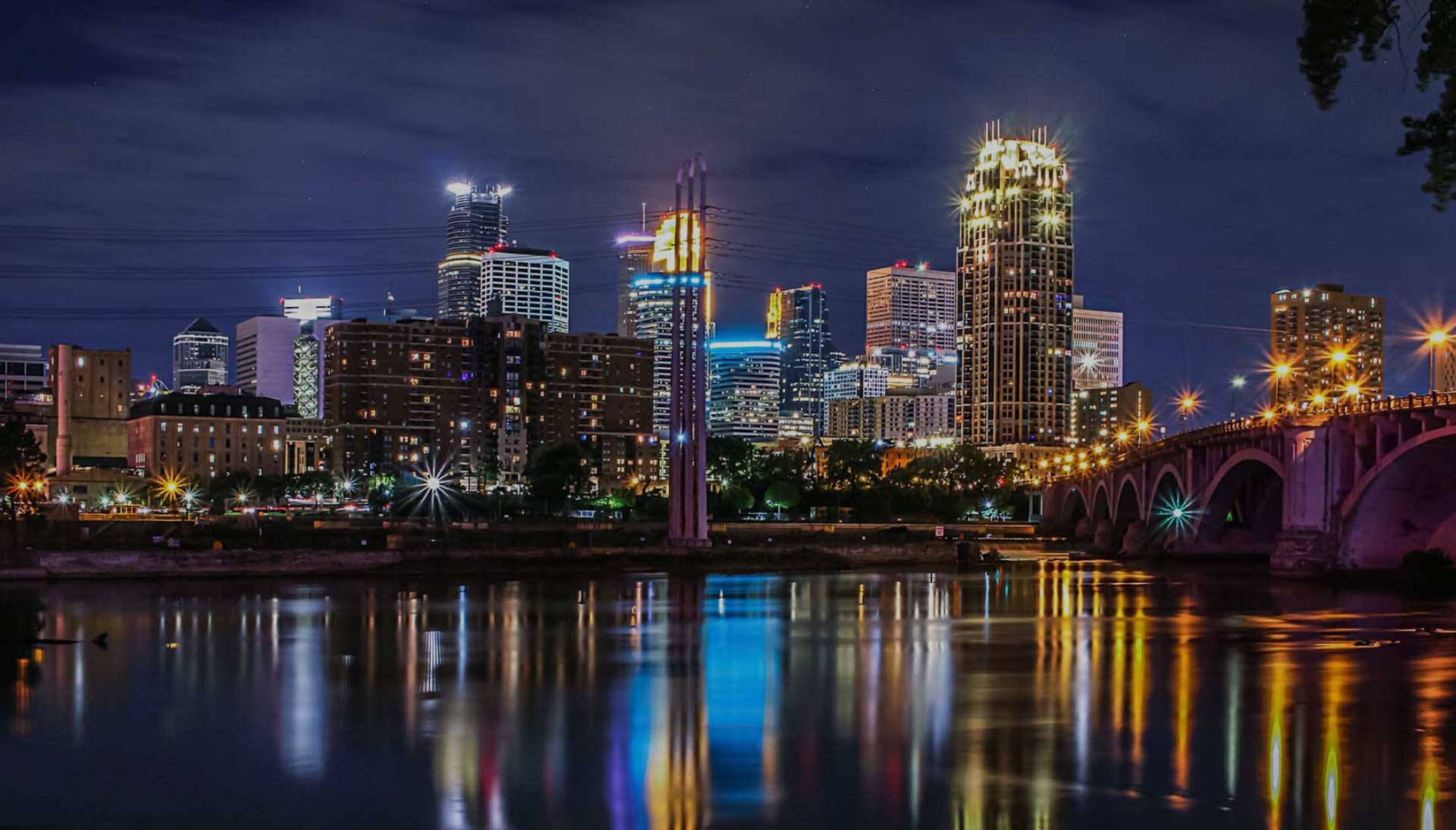 YES city of minneapolis at night
